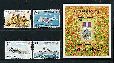 END OF WORLD WAR II   MNH   St Kitts   389-93     DR350