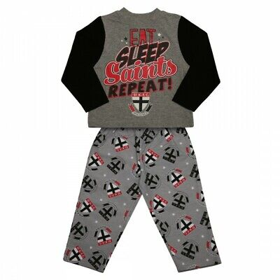 St Kilda Saints Official AFL Winter Toddler L/S Pyjama Set