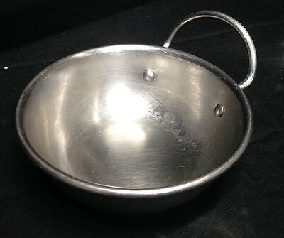 "Bon Chef Stainless Steel 4.5"" Inch Round Mini Casserole Bowl w/ 1 Loop Handle"