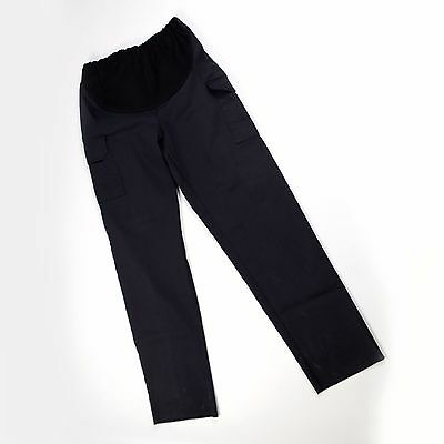 Women's Maternity Work Pants Cargo Pants Black Size Large Inseam 32