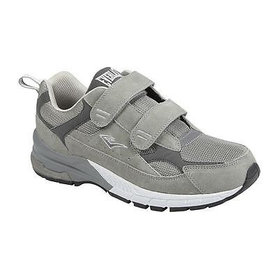 Everlast Sport Men's Athletic Two Strap Shoe Lincoln Wide Width Gray running gym