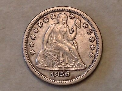 1856 O Seated Liberty Dime Ten 10 Cents