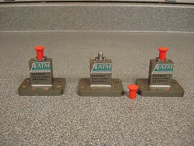 Lot of 3 ATM Microwave SMA To WR90 8.2-12.4GHz Endlaunch Adapters 90-201B-2