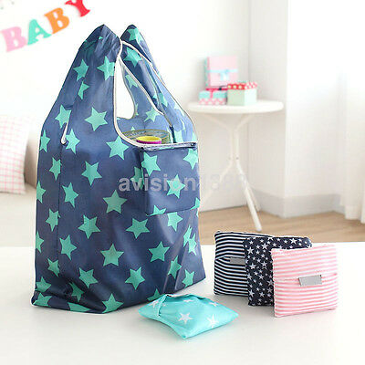 Portable Foldable Reusable Eco Bag Storage Travel Shopping Tote Grocery Bags UK
