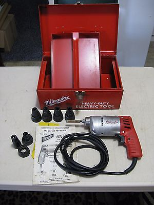 Milwaukee Screw Shooter cat. # 6798-1, 4.5 amps, Box, 4 Locators, Made USA