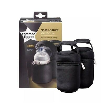Tommee Tippee Closer to Nature Insulated Travel Bottle Carriers Warmer Bags