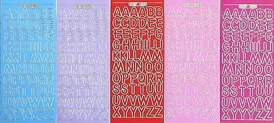 Uppercase ALPHABET Capitals Alphabets 18mm (1.8cm) Letters PEEL OFF STICKERS