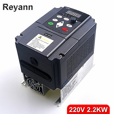 2.2KW 220V AC Variable Frequency Drive VFD 3HP 10A For CNC Router Spindle Motors