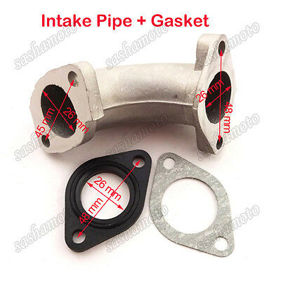 Pitbike 26mm Inlet Manifold Intake Pipe Gasket For Pit Dirt Bike 110 125cc 140cc
