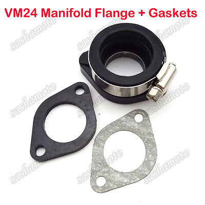 Pit Dirt Bike Carburetor Manifold Flange Adapter For Mikuni VM24 28mm PE24 26 28