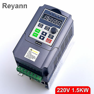 New 1.5KW 220V VFD 7A Single Phase Output 3PH Variable Speed Drive VSD Inverter