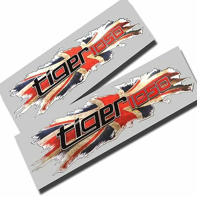 Union flag jack  Triumph Tiger 1050 graphics stickers decals x2 small