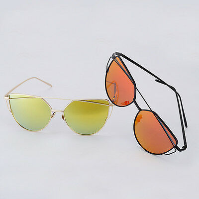 Unisex Newest Sunglasses Metal Lens Multi Fashion Mirrored Oversized Glasses