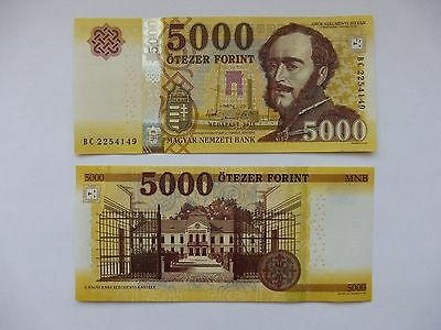 Hungary 2016-2017 5000 Forint banknote - UNC NEW!