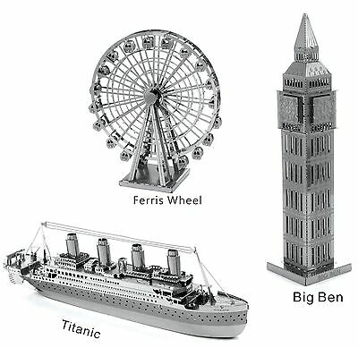 3D Metal Model Puzzle No Glue Jigsaw Laser Cut Assembly DIY Gift DecorationToy