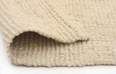 Extra Large Hand Loomed Floor Rug Flat Weave Jute Rug Bleached Assorted Sizes