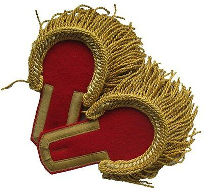 Epaulettes staff officer red field a golden device. Infantry, artillery RIA Repo