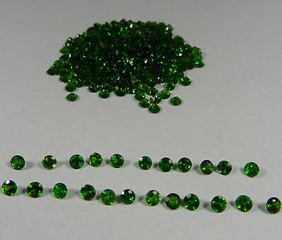 2mm - 8mm Calibrated Natural Chrome Diopside Round Cut Loose Gemstone AU