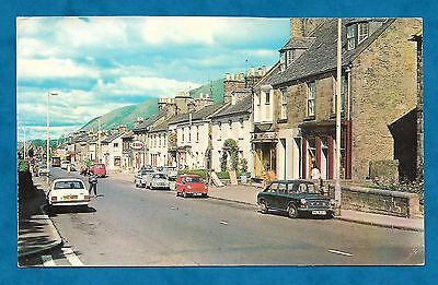1969/70 Pc Bridge Street Looking West, Dollar, Clackmannanshire Cars, Shops Etc
