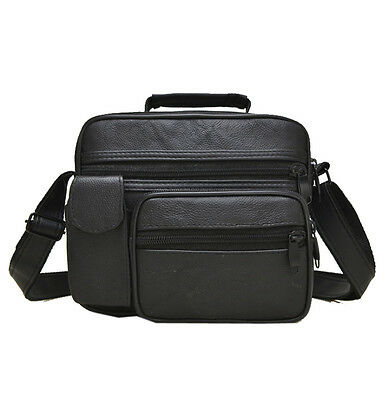 The New Men's Genuine Leather Shoulder Messenger Bag Multi-function handbag
