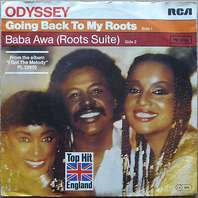 """7"""" Odyssey - Going Back To My Roots - DE 1981 - Disco, Funk - NM"""