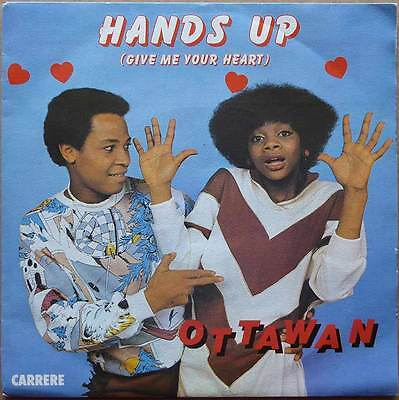 """7"""" Ottawan - Hands Up (Give Me Your Heart) - Frankreich 1981 - VG++"""