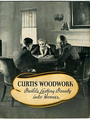 CURTIS WOODWORK BUILDS LASTING BEAUTY INTO HOMES 1936 Sales Brochure Interiors