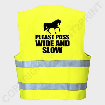 Hi Viz/Vis High Visibility Reflective Vest Horse Riding Equestrian Safety