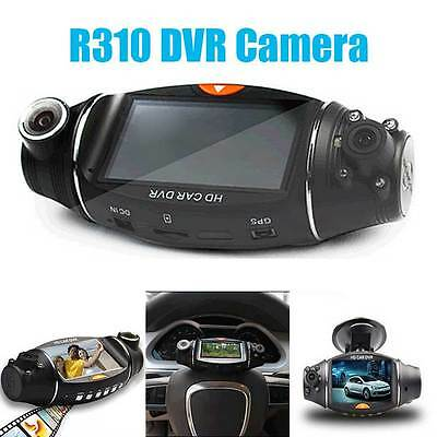"Dual Lens Car DVR 2.7"" HD Vehicle Video Camera Dash Cam Recorder Night Vision"
