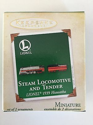 2005 Hallmark Keepsake Lionel 1939 Hiawatha Steam Locomotive And Tender