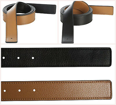 New Leather Belt Strap Reversible Fits Hermes Replacement Large 36-38 Black Tan