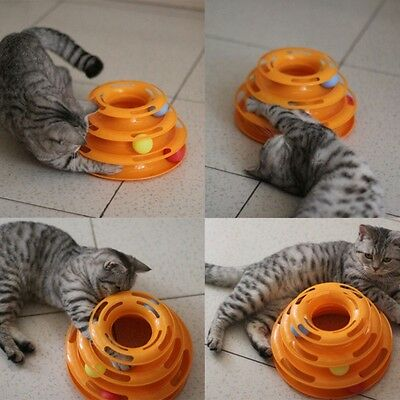 Intelligence Triple Ball Play Disc Cat Toy