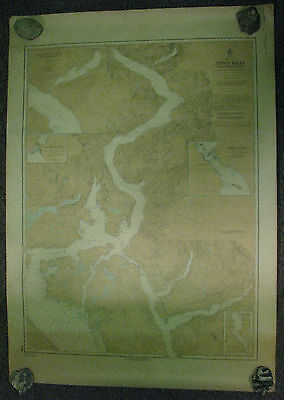 Nautical Chart Canada BC Jervis Inlet and Approaches 1977 #3589