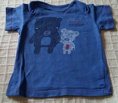 """""""M&S"""" Baby Boys Blue Top 9-12 Months"""