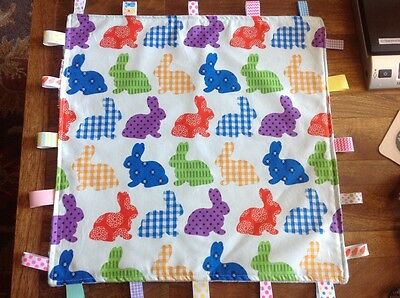Baby Taggie - Security Blanket - Easter Bunnies -Cotton/Minky