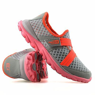 Ladies Womens Slip On Casual Walking Running Gym Sports Pumps Trainers Shoe Size