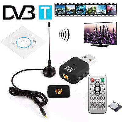 USB 2.0 Tuner Receiver Stick Digital DVB-T SDR+DAB+FM HDTV Für PC Laptop Battery