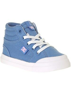 DC Evan Smith Blue-White Hi TX Toddlers Shoe