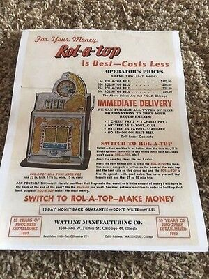 Watling Rol-A-Top  Advertising Flyer   Reprint