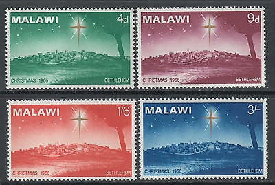 XG-I922 MALAWI - Christmas, 1966 Betlehem, 4 Values MNH Set