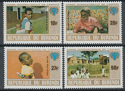 XG-M979 BURUNDI - Intl. Year Of The Child, 1979 4 Values MNH Set