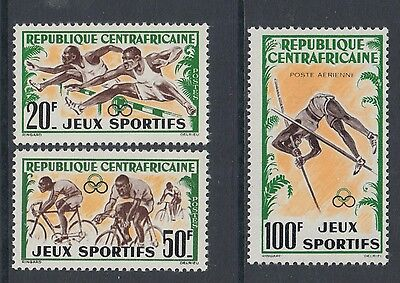 XG-M680 SPORTS - Central African, 1962 Games, Cycling, 3 Values MNH Set