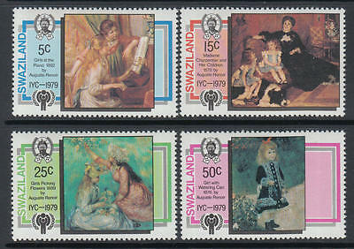 XG-M888 SWAZILAND IND - Intl. Year Of The Child, 1979 Paintings 4 Values MNH Set