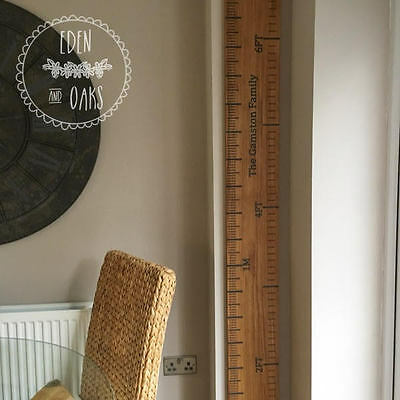 Handmade Solid Wood Height Ruler Chart Engraved Oak Luxury Quality Gift