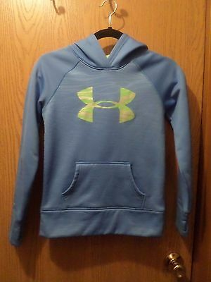Youth Under Armour Blue Pullover Hoodie Size Y Medium