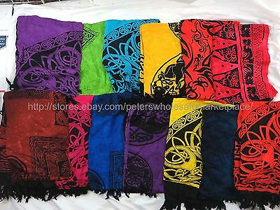 US SELLER- 10 sarongs Tapestry Wicca Pagan Celtic Women Swim Coverups scarf wrap