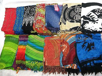 US SELLER- 10 sarongs tribal floral hippie lizard beachwear for women