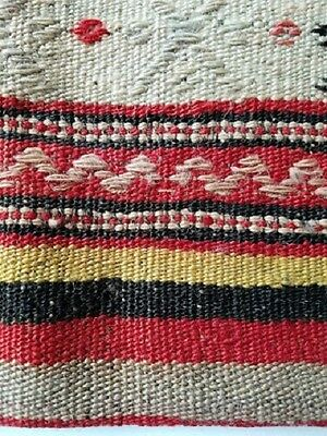 "Turkish Kilim Pillow Cover Hand Made Antique Backing Zipper Zigzag 16"" X 16"""