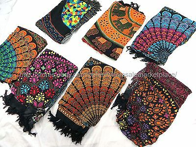 5 sarongs mandala symbol of universe peacock feather butterfly hippie clothing