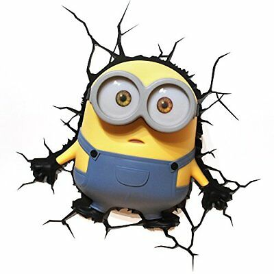 3D Light Fx Minions Bob con Timer Lampada LED, Multicolore (m9o)